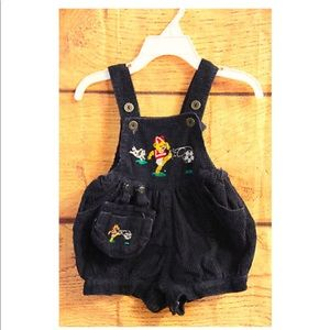 Other - Vintage overalls 12 months bear playing soccer